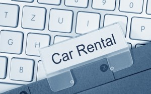 Picture of car rental insurance agreement