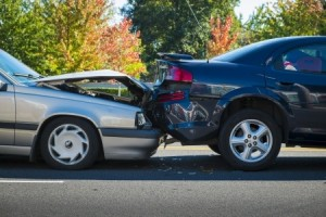 Photo of a vehicle collision
